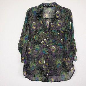 Sara Michelle peacock blouse
